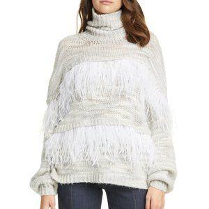 Cinq a Sept Valentina Feather Turtleneck Sweater M
